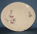 Canonsburg Pottery Wild Clover oval platter