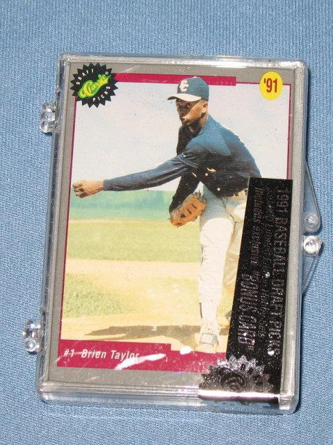 Classic Premiere Edition 1991 MLB baseball draft picks cards NIB