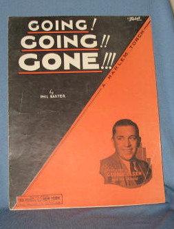 Going! Going!! Gone!!! sheet music
