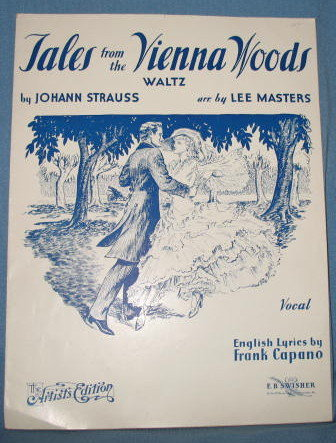 Tales from the Vienna Woods Waltz sheet music