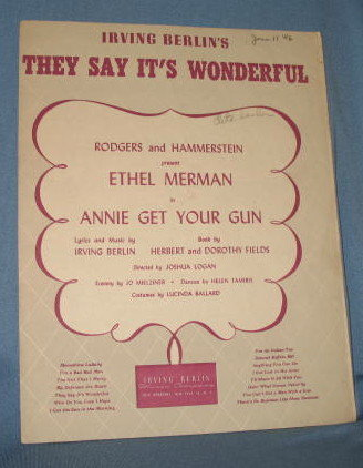 They Say It's Wonderful sheet music