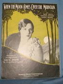 When the Moon Comes Over the Mountain sheet music