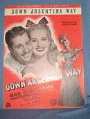 Down Argentina Way sheet music