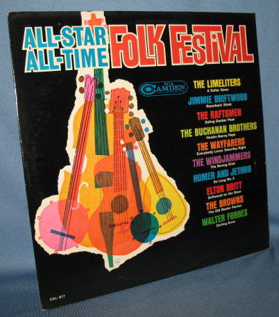 All-Star All-Time Folk Festival 33  RPM LP record