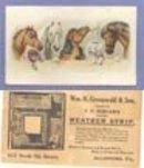 Wm. H. Greenwald & Son, Allentown PA advertising card
