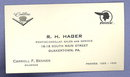 Carroll F. Benner, R. H. Hager Pontiac-Cadillac Sales and Service, Quakertown PA business card