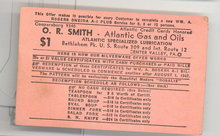 O. R. Smith Atlantic Gas and Oils, Center Valley PA premium card
