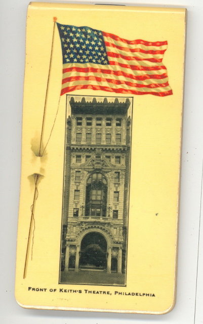Keith's Theatre, Philadelphia PA pocket notebook