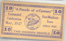 Centennial Celebration, Fort Madison, Iowa paper