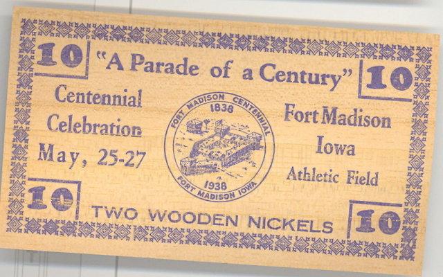 Centennial Celebration, Fort Madison, Iowa paper