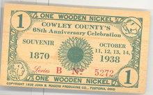 Cowley County's 68th Anniversary Celebration paper