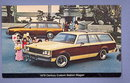 1979 Buick Century Custom Station Wagon  color photo postcard from C & G Buick Emmaus, PA