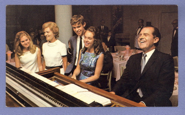 Richard M. Nixon and family electoral plea postcard