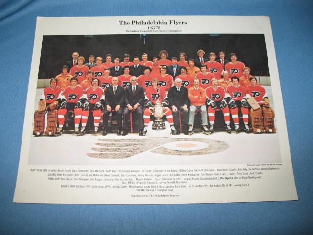 1977/78 Philadelphia Flyers photo, Supplement to Philadelphia Inquirer
