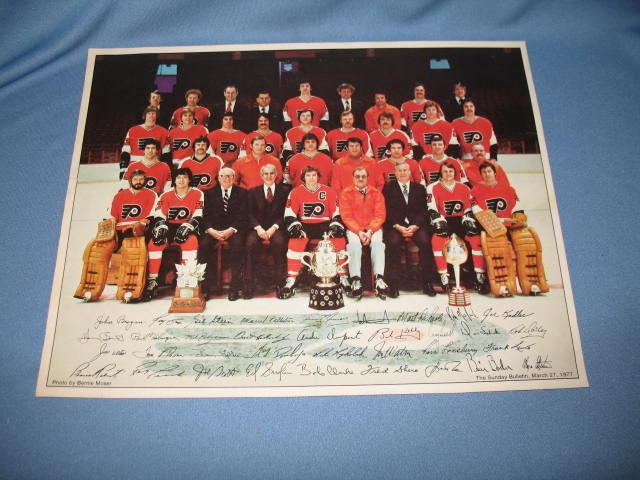 1976/77 Philadelphia Flyers  photo, Supplement to Philadelphia Bulletin