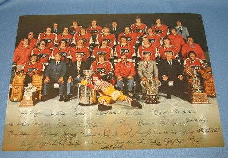 1973/74 Philadelphia Flyers  photo, McDonald's photo