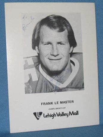 Philadelphia Eagles Frank Le Master autographed picture