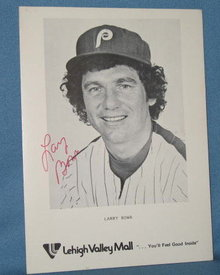Philadelphia Phillies Larry Bowa autographed picture