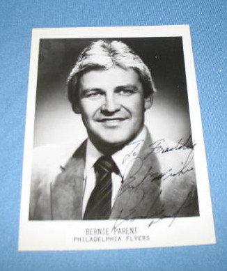 Philadelphia Flyers Bernie Parent autographed picture
