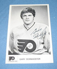 Philadelphia Flyers Gary Dornhoefer autographed picture