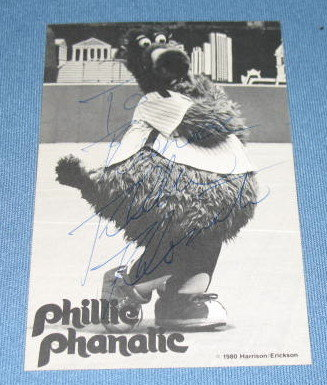 Phillie Phanatic autographed picture