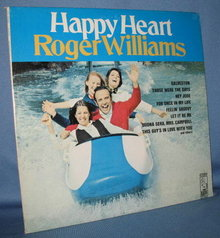 Roger Williams : Happy Heart  33 RPM LP record