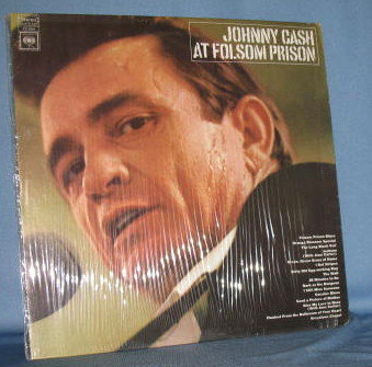 Johnny Cash at Folsom Prison 33 RPM LP record