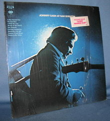 Johnny Cash at San Quentin 33 RPM LP record