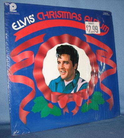 Elvis' Christmas Album 33 RPM LP record