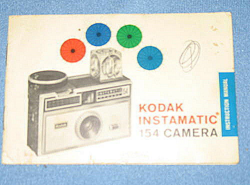 Kodak Instamatic 154 camera instruction booklet