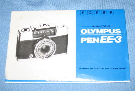 Olympus Pen EE-3 camera instruction booklet