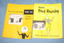 Kodak Pony Roundup and Kodak Pony 135 Model B camera instruction booklets