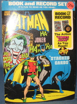 Batman Trumping the Joker Book and Record Set