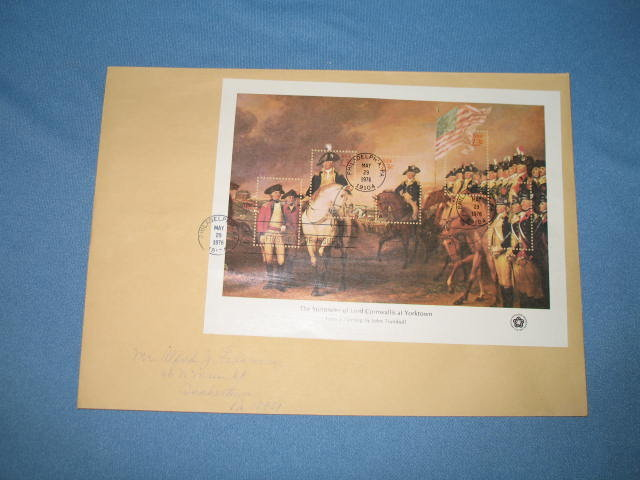 1976 Surrender of Lord Cornwallis at Yorktown first day cover