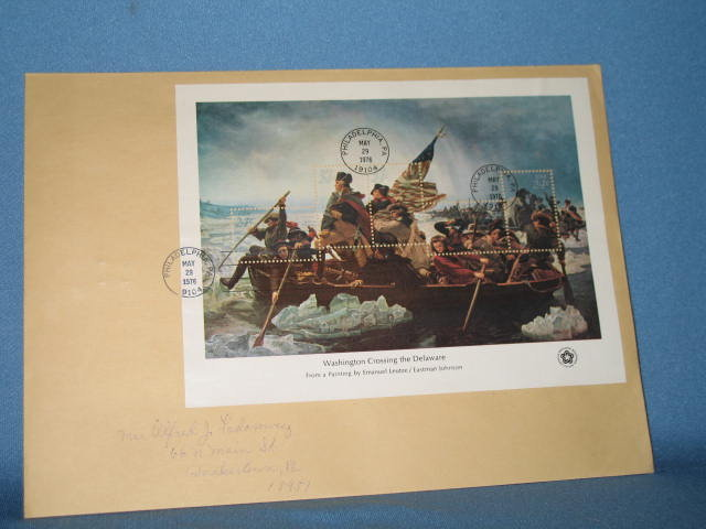 1976 Washington Crossing the Delaware first day cover