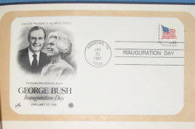 Vice Presidential Inaugural Cover, 1981, George H. W. Bush
