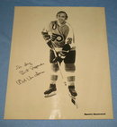 Autographed photo of Philadelphia Flyers' Ed Van Impe