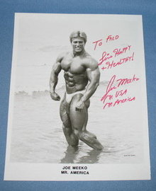 Autographed photo of Fred Meeko, Mr. America