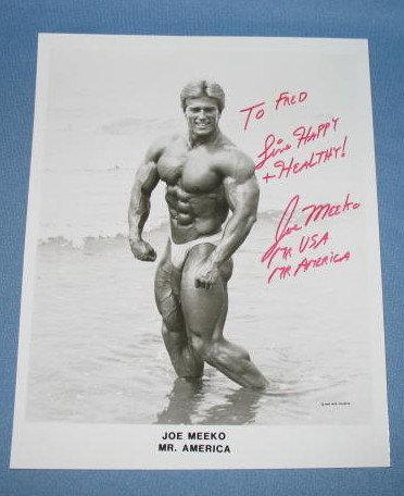 Autographed photo of Fred Meeko, Mr. America