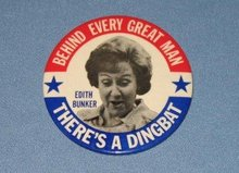 All in the Family Edith Bunker pinback button