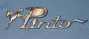 Ford Pinto metal name plate