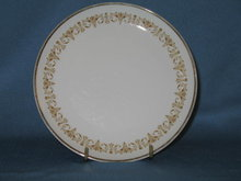 Sheffield Imperial Gold bread plate
