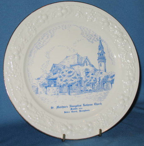 St. Matthew's Evangelical Lutheran Church, Kellers Church. PA  collector's plate