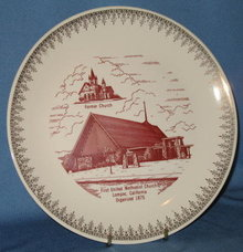 First United Methodist Church, Lompoc, California  collector's plate
