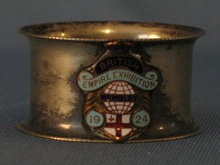 1924 British Empire Exhibition napkin ring