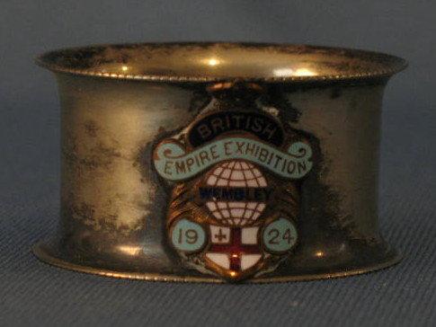 1924 British Empire Exhibition napkin ring