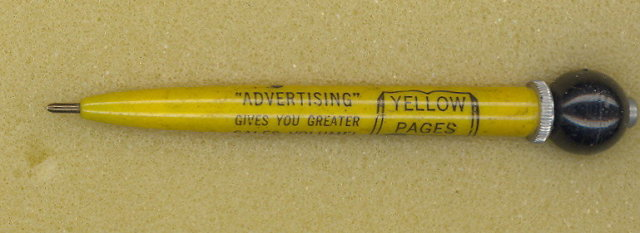 Yellow Pages advertising pen