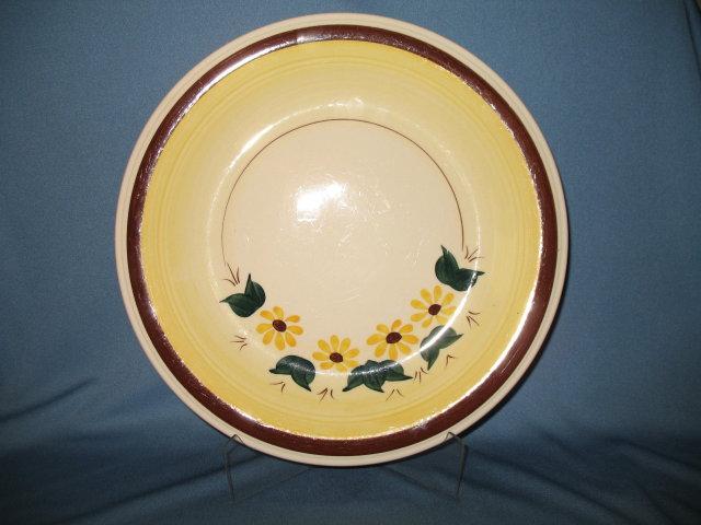 Vernon Kilns Brown Eyed Susan 12 inch chop plate ( round platter)