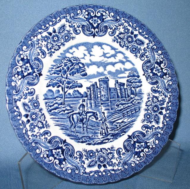 Hostess Tableware Olde Country Castles blue dessert/pie plate  sc 1 st  Antiques Art Vintage & Antiques Art Vintage