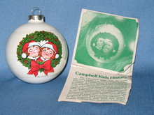 1981 Campbell Kids Christmas Tree Ornament